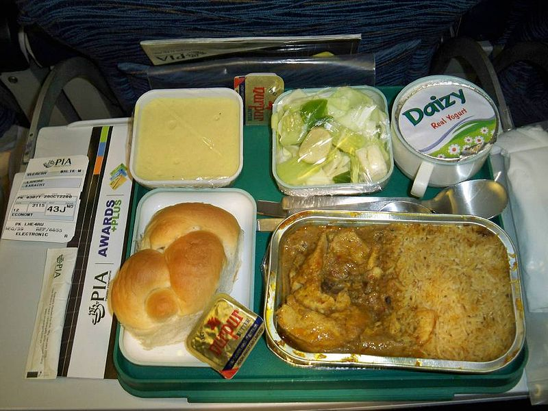 Economy Class Meal On Pakistan International Airlines