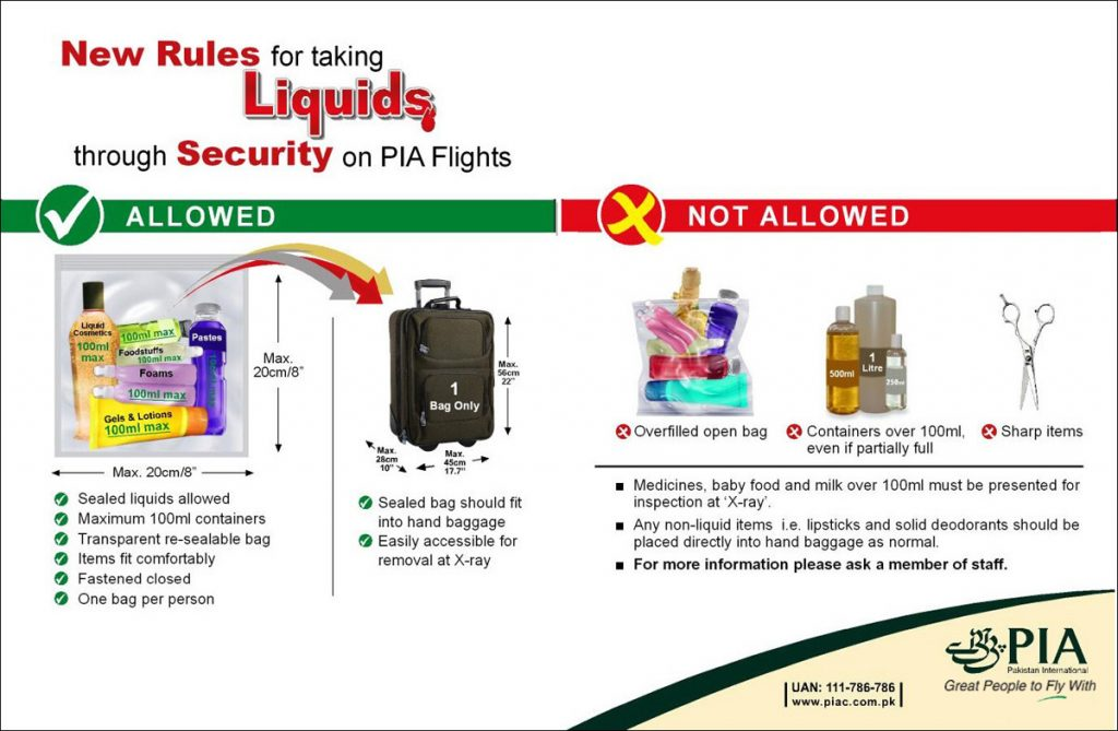 PIA flights baggage allowance – Pakistan International Airlines