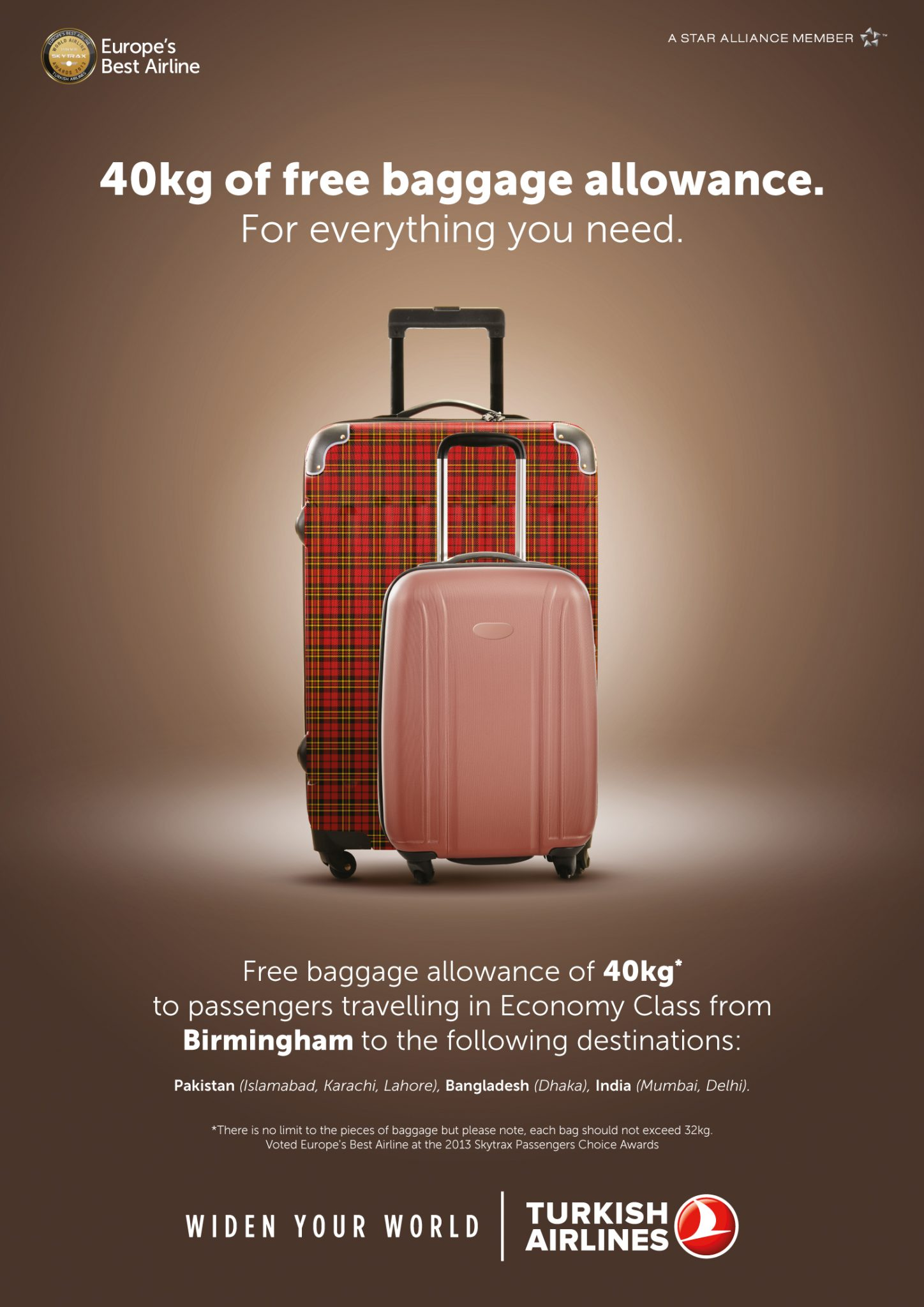 Turkish Airlines Baggage Allowance From Birmingham